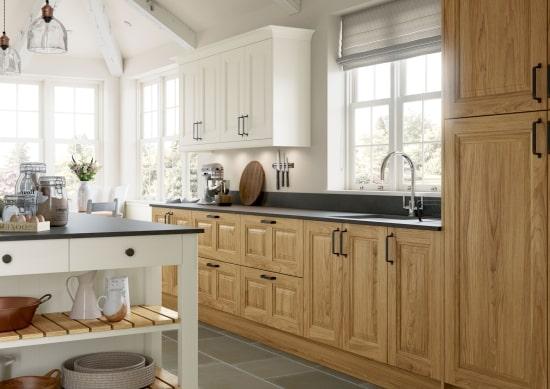classic oak finished kitchen