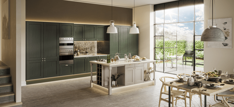 luxury shaker kitchen