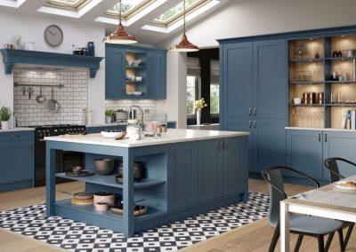 hampton painted shaker kitchen