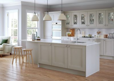 huntley painted shaker kitchen
