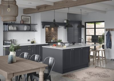 grey country shaker kitchen